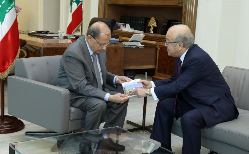 President Michel Aoun meets Former MP Mohammed Kabbani.