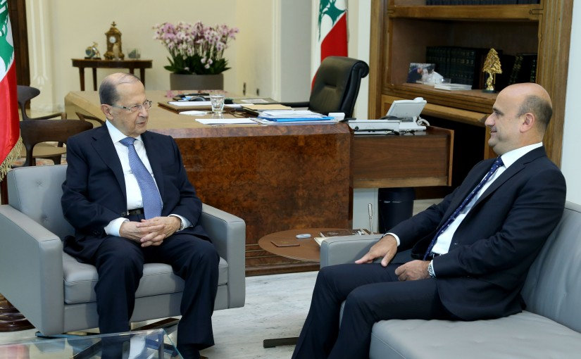 President Michel Aoun Meets MP Simon Abi Ramia