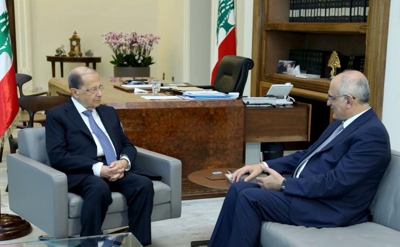 President Michel Aoun Meets Minister Ali Hassan Khalil