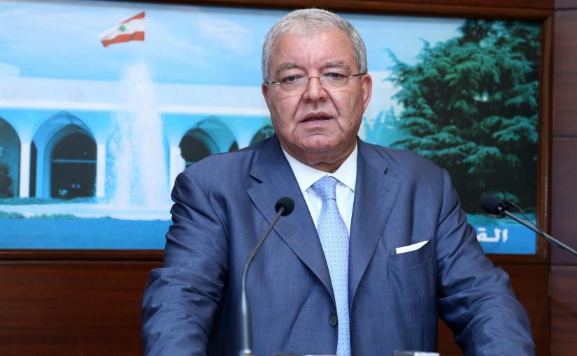 President Michel Aoun meets Minister of Interior and Municipalities Minister Nouhad Machnouk.