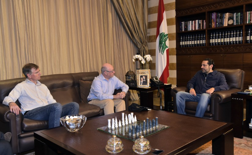Pr Minister Saad Hariri meets British Delegation