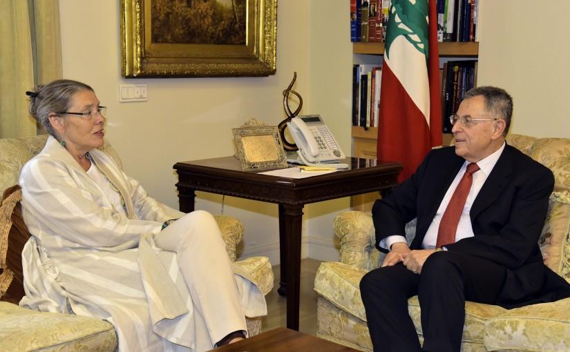 Former Pr Minister Fouad Siniora meets Mrs Pernille Darrell