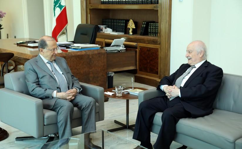 President Michel Aoun Meets MP Albert Mansour
