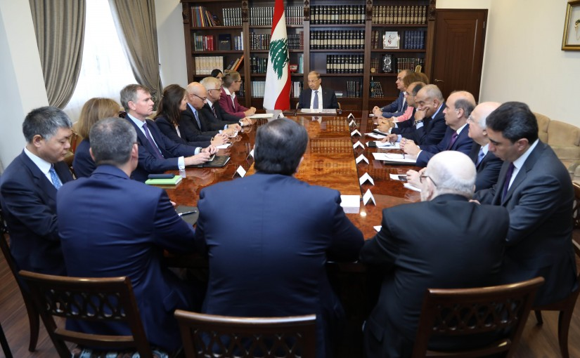 President Michel Aoun Meets Ambassadors of the International Support Group for Lebanon