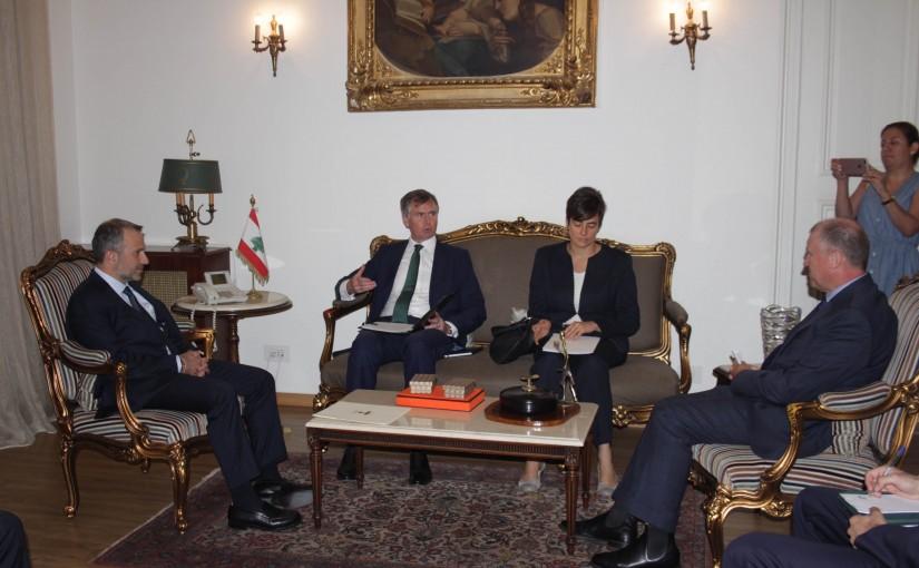 Minister Gebran Basil Meets a Delegation From The European Ambassadors