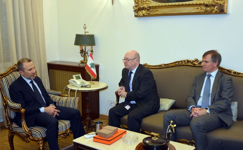 Minister Gebran Basil Meets British Minister of State for International Development Alistair Burt