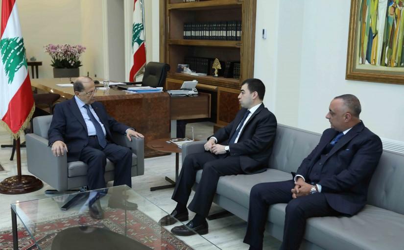 President Michel Aoun Meets Minister Cezar Abi Khalil & Mr Kamil Antoine Abi Khalil