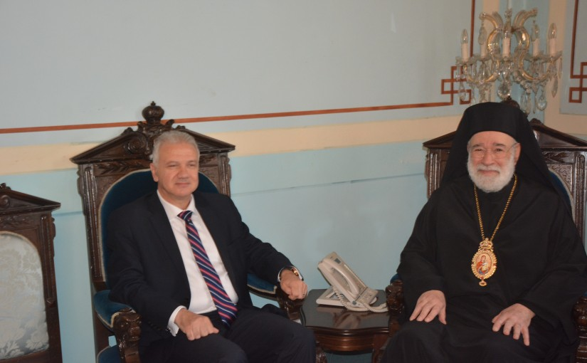 Bishop Elias Audi meets Mr Fady Karam