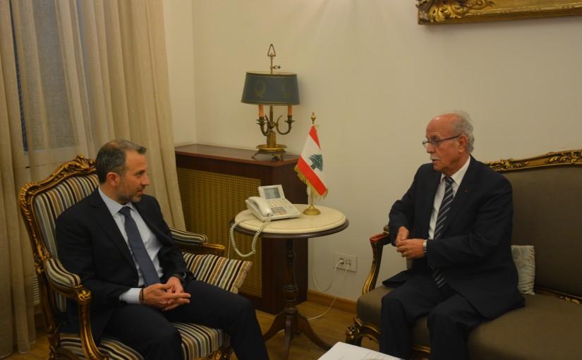 Minister Gebran Bassil meets MP Henri Chedid