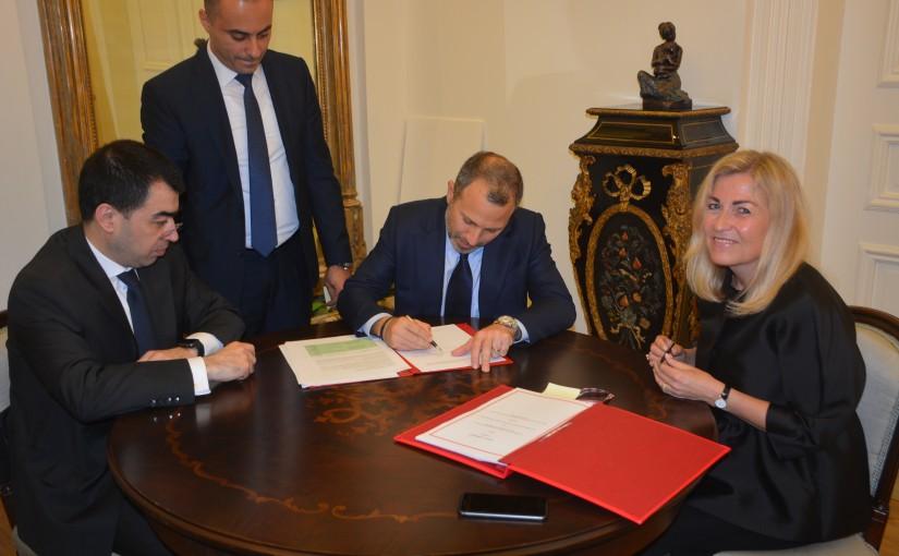 Minister Gebran Bassil meets Norway Ambassador