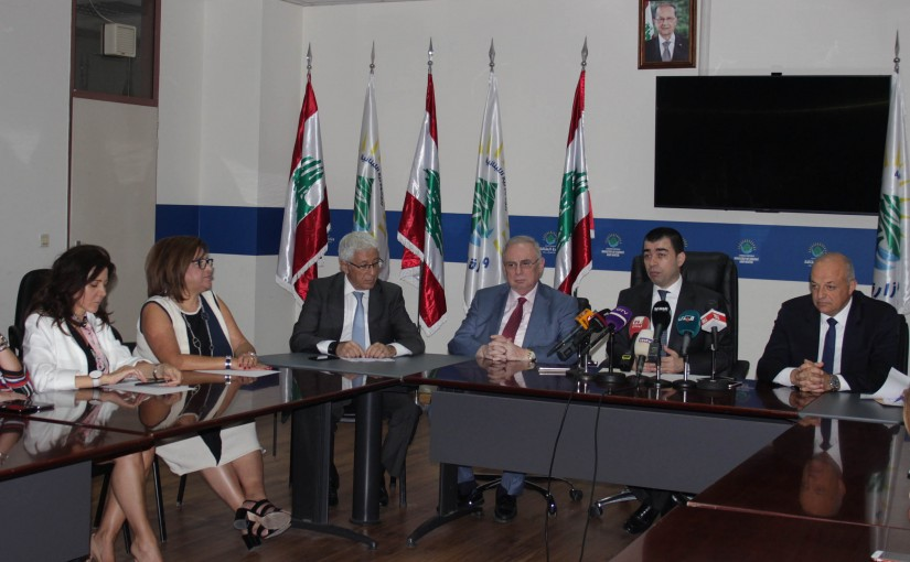 Press Conference For Minister Cezar Abi Khalil
