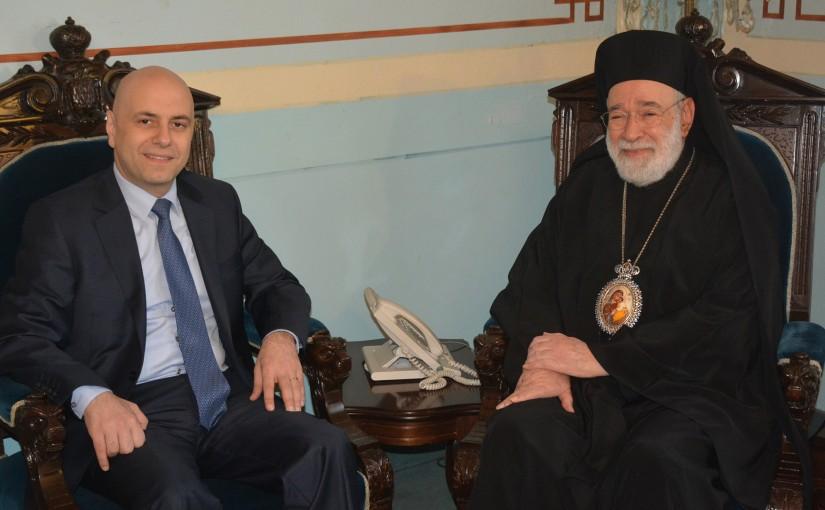 Bishop Elias Aude Meets Bishop Ghassan Hasbani