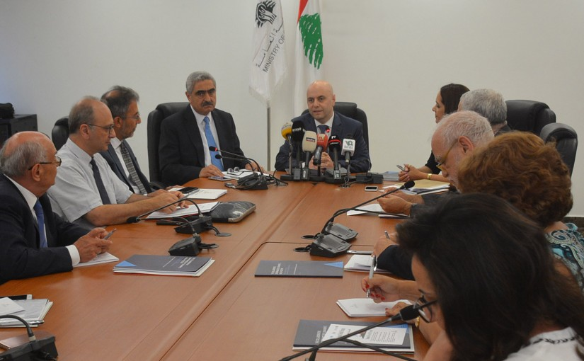 Press Conference For Minister Ghassan Hasbani