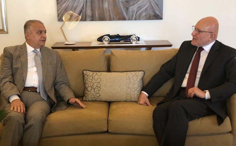 Former Pr Minister Tammam Salam meets Mr Mouhamad Ali Hakim