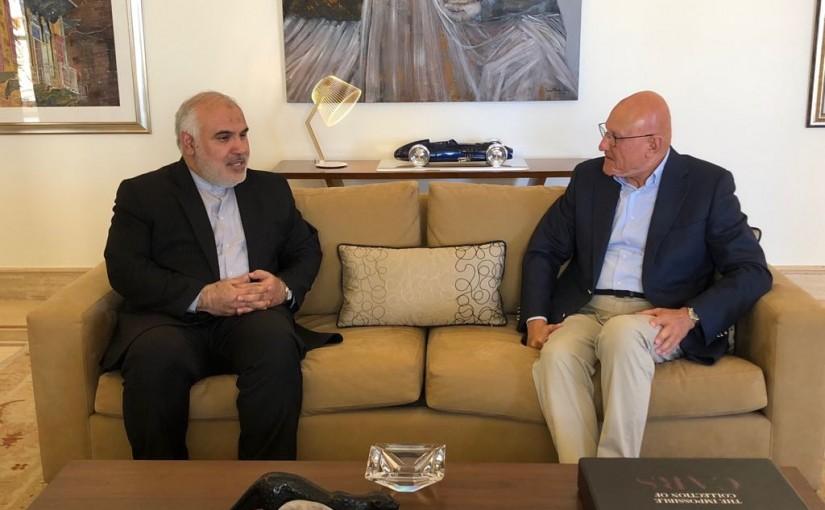 Former Pr Minister Tammam Salam meets Iranian Ambassador