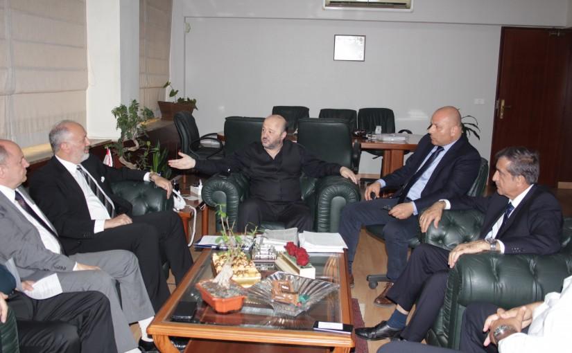 Minister Melhem Riachi meets Mr Ziad el Hayek