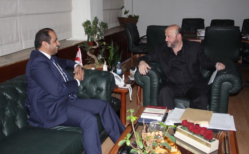Minister Melhem Riyachi Meets Emirates Ambassador