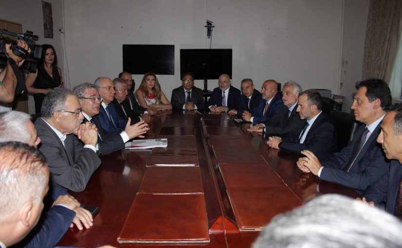 Minister Gebran Basil Meets a Delegation From The Lebanese Industrialists Association