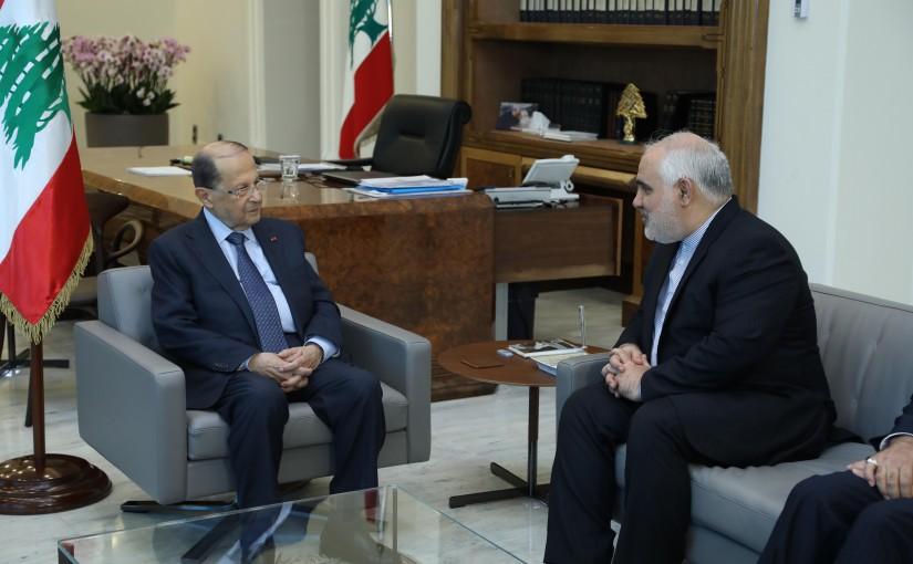 President Michel Aoun Meets Iranian Ambassador Mohamad Fatahali