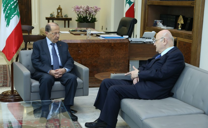 President Michel Aoun Meets MP Jean Obeid