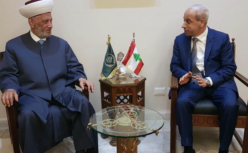 Mufti Abdel Latif Derian Meets Major General Mohamad Kheir