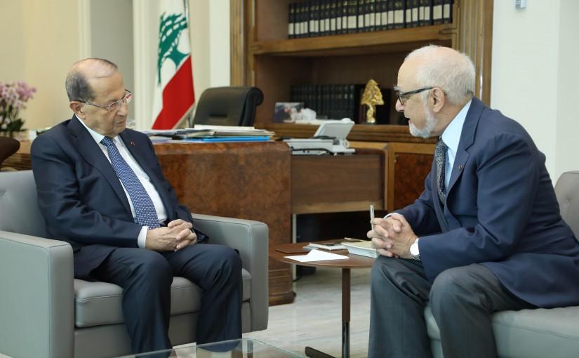 President Michel Aoun Meets Mr Marwan Sehnaoui