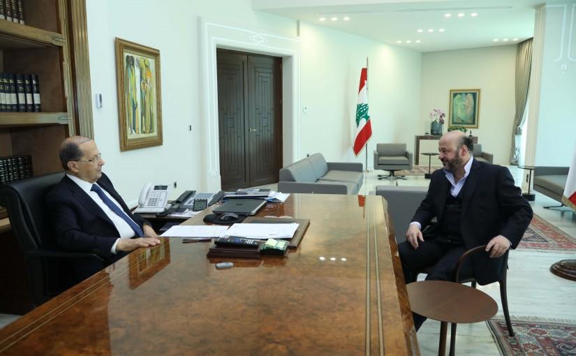 President Michel Aoun Meets Minister Melhem Riyachi