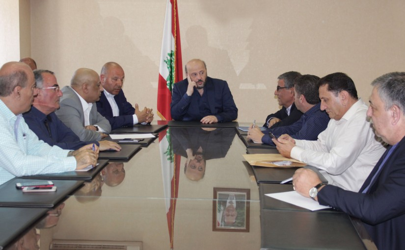 Minister Melhem Riyachi Meets a Delegation From Tele Liban