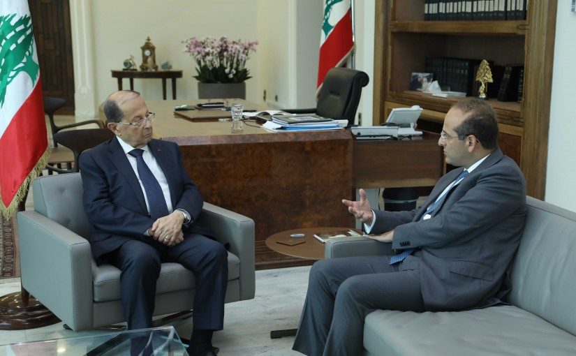 President Michel Aoun Meets Minister Raed Khoury