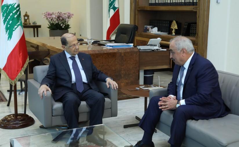 President Michel Aoun Meets MP Mohamad Hajjar