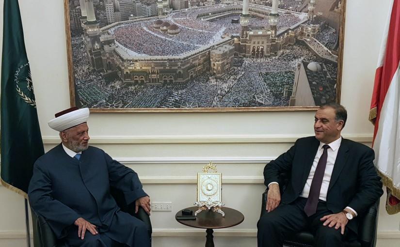 Mufti Abdel Latif Derian Meets MP Mohamad Sleiman