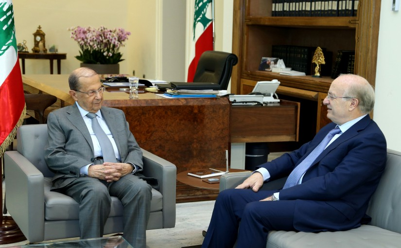 President Michel Aoun Meets Minister Ghatas Khoury