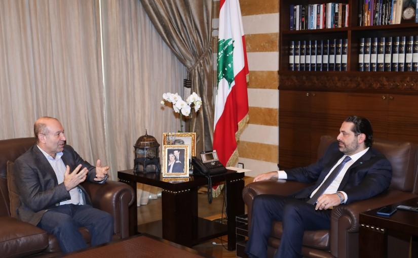 Pr Minister Saad Hariri meets Mr Moustapha Aloush