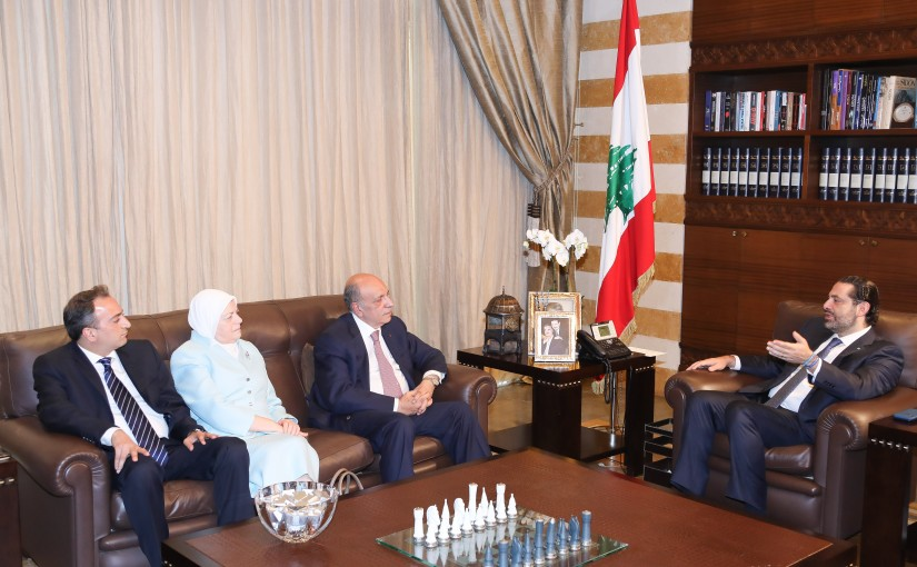 Pr Minister Saad Hariri meets a Delegation from Mouhamad Khaled Institution