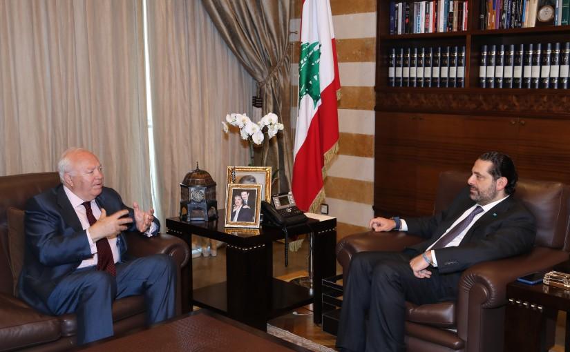 Pr Minister Saad Hariri meets Mr Miguel Angel Moratinos