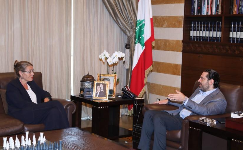 Pr Minister Saad Hariri meets Pernille Cardel