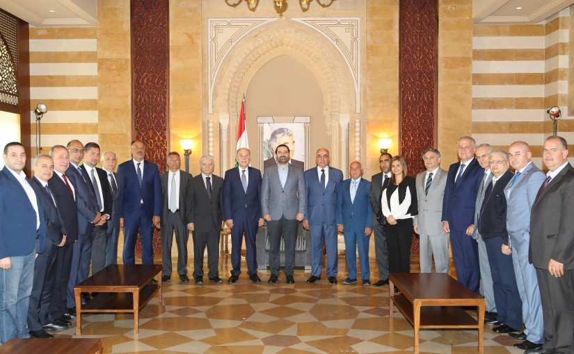 Pr Minister Saad Hariri meets a Delegation a Tripoly Trade Chamber
