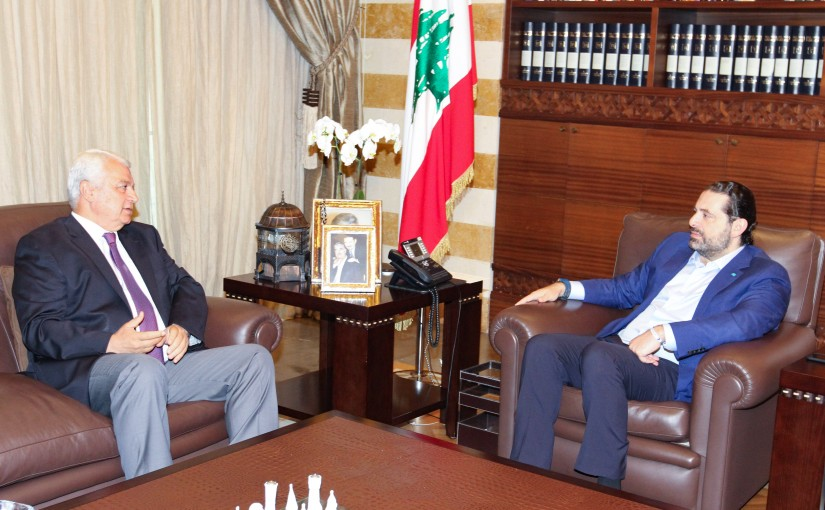 Pr Minister Saad Hariri meets Head of Tripoly Municipality