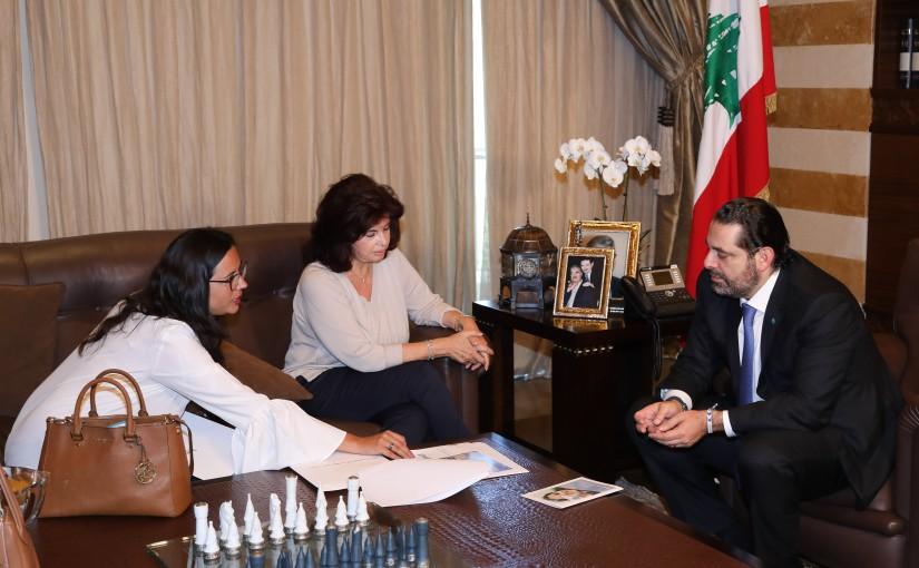 Pr Minister Saad Hariri meets Mrs Vivian Debass