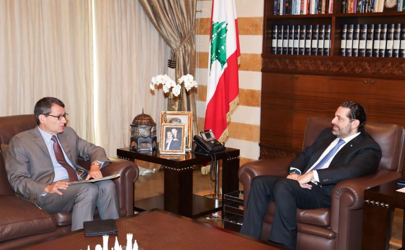 Pr Minister Saad Hariri meets German Ambassador