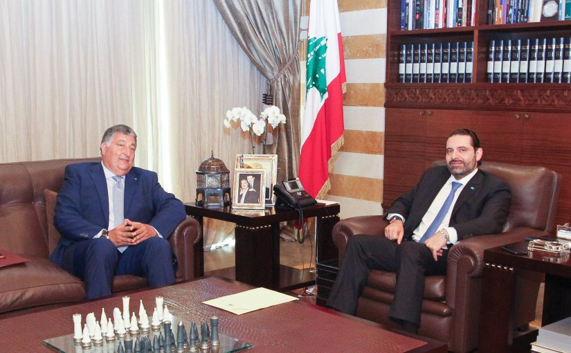 Pr Minister Saad Hariri meets Mr Salem Baydoun