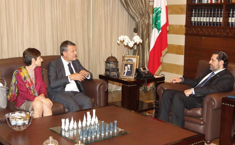 Pr Minister Saad Hariri meets Mr Philippe Larizini