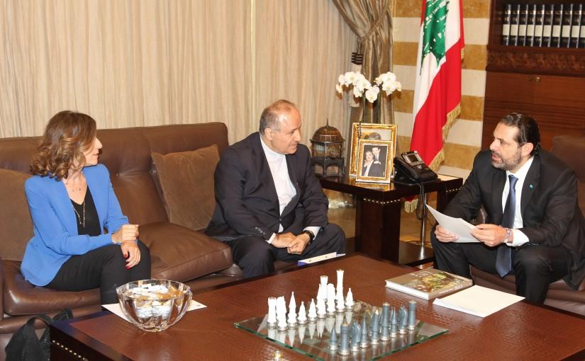 Pr Minister Saad Hariri meets Fatherb Selim Daccache