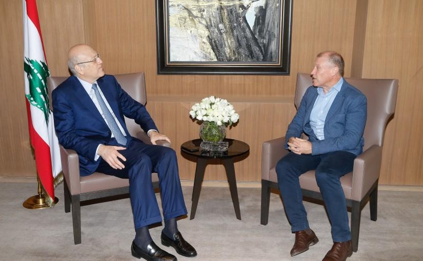 Former Pr Minister Najib Mikati meets Australian Ambassador