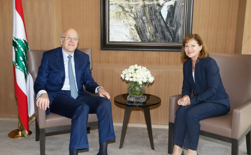 Former Pr Minister Najib Mikati meets US Ambassador