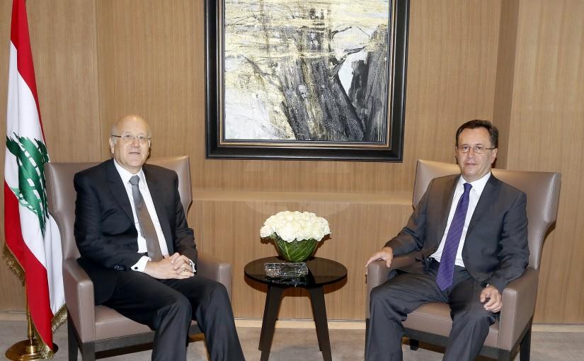 Former Pr Minister Najib Mikati meets Armenian Ambassador