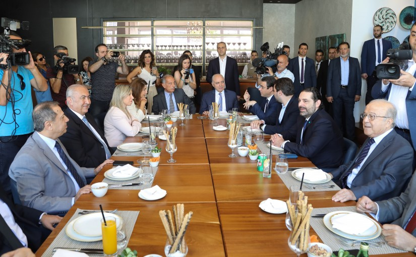 Lunch Hosted by Former MP Mouhamad Kabani in Honors of Pr Minister Saad Hariri