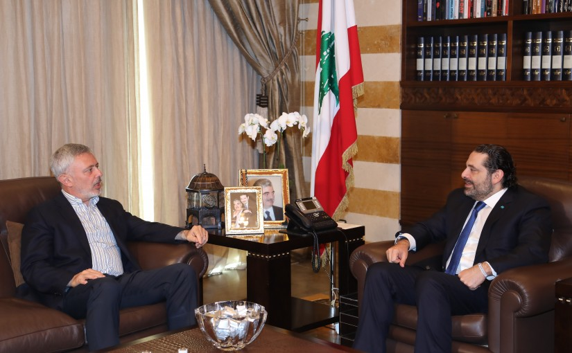 Pr Minister Saad Hariri meets Former Minister Sleiman Franjieh