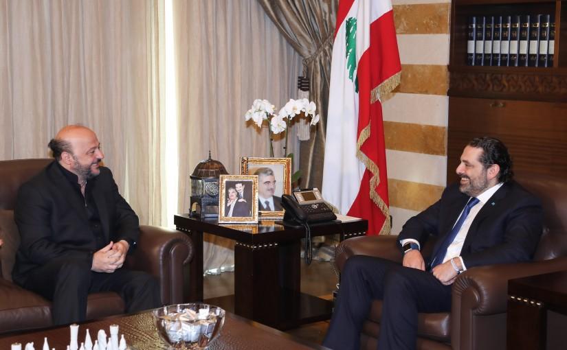Pr Minister Saad Hariri meets Minister Melhem Riachi