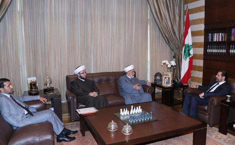 Pr Minister Saad Hariri meets Mufti Ali Gozo
